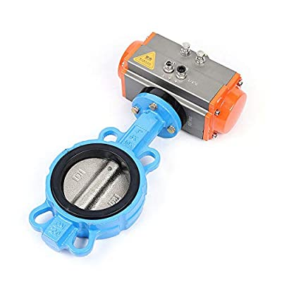 """4"""" DN100 Pneumatic Butterfly Valve Double Acting Wafer Type Sealing Two-Way Butterfly Valve (USA Stock) from DEWANS"""
