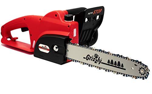 Grizzly Tools Elektro-Kettensäge mit Metallgetriebe, 1800 W, 35,5 cm Schnittlänge, Chromekette, autom. Kettenschmierung, Kabelzugentlastung, Kettenbremse, (EC 1800)