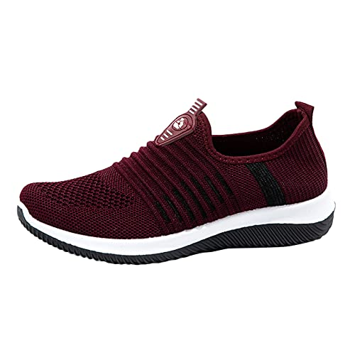 Zapatillas deportivas deportivas para correr para mujer, zapatillas de deporte para caminar, zapatillas de tenis ligeras, Red, 39 EU