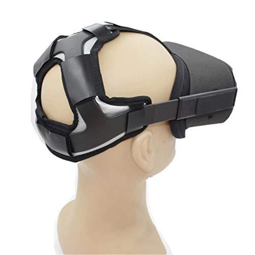 WERTAZ Cabeza Almohadilla para Oculus Ques-T 2, Profesional Cabeza Correa Almohadilla, Ques-T Diadema Recambio Accesorios con Cómodo Cuero Sintético Cabeza Cojín, Reduce Cabeza Presión (Negro)