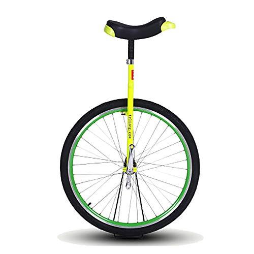 AHAI YU 28'Adultos Big Wheel Unicycle, Unisex Adel (Color : Yellow)