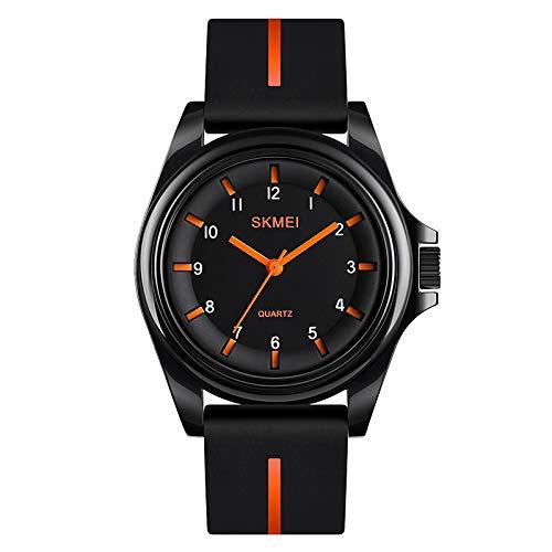 Unisex Reloj de Vestir Cuarzo Estilo Formal Estilo Moderno Casual Resistente al Agua Analógico Negro Azul Naranja/Un año/Silicona