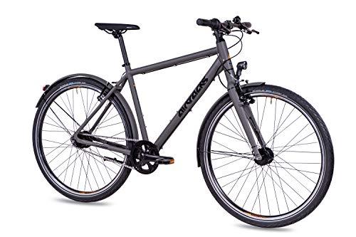 Airtracks Herren Urban Fahrrad 28 Zoll City Bike UR.2840 Shimano Nexus 7 Grau Matt (52cm (Körpergröße 165-175cm))