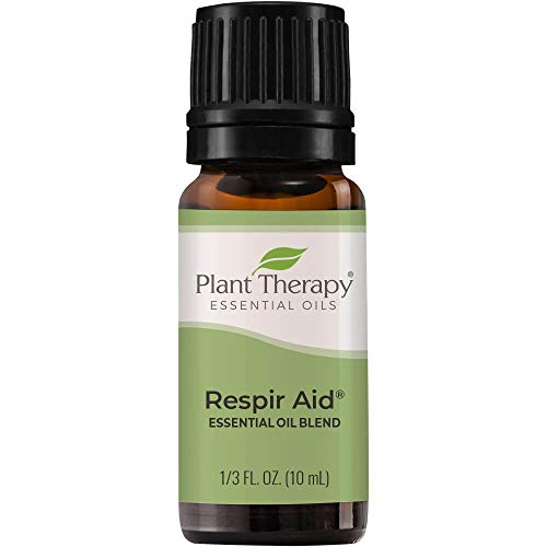 Plant Therapy Respir Aid Essential Oil Blend 10 mL (1/3 oz) Sinus, Airway and Congestion Clearing Synergy Blend 100% Pure, Undiluted, Natural Aromatherapy, Therapeutic Grade