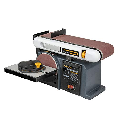 Product Image of the POWERTEC BD4600 Belt Disc Sander For Woodworking | 4 In. x 36 in. Belt Sander with 6 In. Sanding Disc