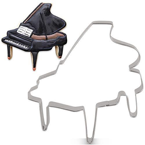 KENIAO Klavier-Ausstechform, Musik, Keks, Fondant, 10,4 x 10,7 cm, Edelstahl
