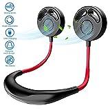 swonuk Ventilador Cuello USB, batería Recargable Personal Rotación de 360 °, con aromaterapia Ventilador de Cuello sin aspa para Deporte, hogar, Exterior(sin aspa)