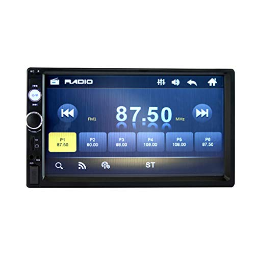 Autoradio Doppel 2 Din 7 Zoll HD Touchscreen,7010B Auto Radio in Dash GPS MP5 / MP3 Player FM, Multimedia Spieler Unterstützt Freisprecheinrichtung AUX TF USB Fernsteuerungs (Schwarz)