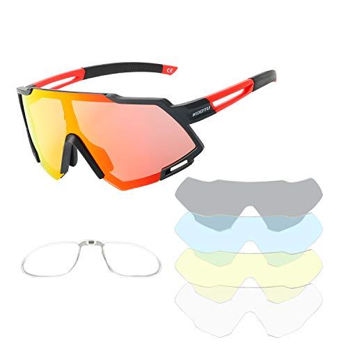 SAVADECK Gafas de sol polarizadas de Ciclismo de Bicicleta Hombres y mujeres Unisex Protección UV-400 Gafas de sol para bicicleta de carretera Bicicleta de montaña (Rosa)