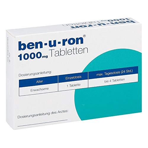 ben-u-ron 1000 mg Tabletten bei Schmerzen und Fieber, 9 St. Tabletten