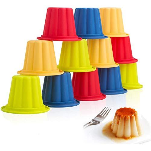 Webake Jello Shot Cups Silikon Popover Pan Pudding Backförmchen Antihaft Muffin Cupcake Liner 12 Stück