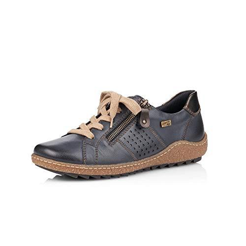 Remonte Damen Schnürhalbschuhe R4717, Frauen sportlicher Schnürer,remonteTEX, Halbschuh schnürschuh Sneaker,Lake,37 EU / 4 UK