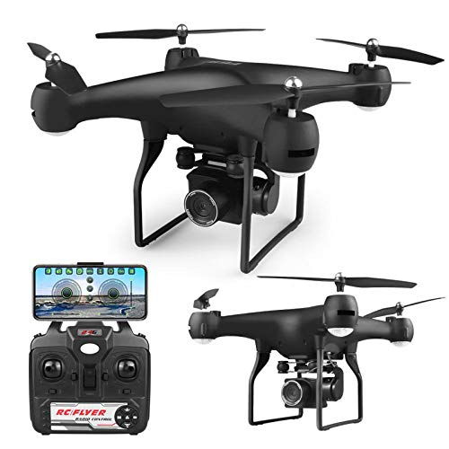 SDDS Drone RC Quadcopter with 4K Camer for Kids Adults Beginners, 90 Degree Adjustable One-Button Take-Off/Return, Foldable Air Pressure Fixed Height Headless Mode Outdoor Toys