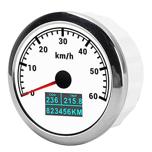 Velocímetro GPS, Recorrido COG Kilometraje Total 60 Km/H Odómetro IP67 A Prueba De Agua A Prueba De Polvo Con Antena GPS Para Barco Marino, Coche, Camión