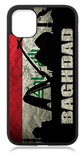 Kompatibel mit iPhone 12 PRO MAX Hülle Silikon, Handyhülle für iPhone 12 PRO MAX Schutzhülle Slim Case Cover Irak Fahne Flagge