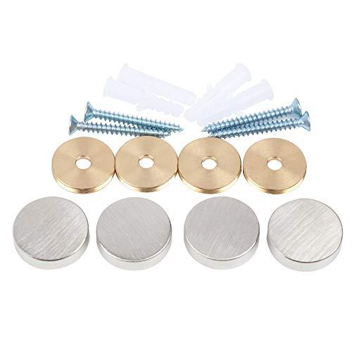 Spiegelschrauben, Messingkappe, dekorative Spiegelnägel, Φ25 mm, Satin-Nickel, 4 Stück