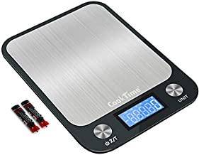 Digital Kitchen/Food Scale Grams and Ounces - Ultra Slim/Multifunction/Tare Function Kitchen Weight Scales for Cooking & Baking - 22lb/10kg Capacity,0.04oz/1g(Batteries Included)