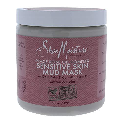 Shea Moisture Peace Rose Oil Complex Sensitive Skin Mud Mask for Unisex, 6 Ounce