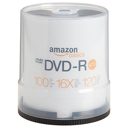 Amazon Basics 4.7 GB 16x DVD-R (100-Pack Spindle)