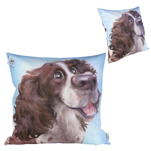 Thoughtful Gifts Newest gift present. A great cushion for any home. Springer Spaniel Soft and Stylish Cushion