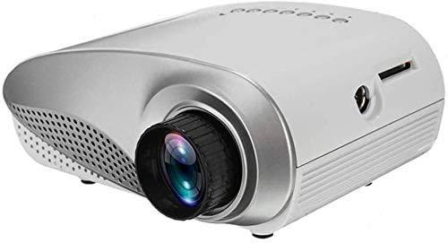 ZouYongKang Proyector de video LCD, 1080p admitido proyector completo de HD Mini Proyector de películas, ± 45 ° Digital 4D Keystone Calibration, Bajo ruido, Estéreo de HIFI, videojuego de teléfono int