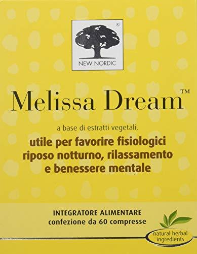 Melissa Dream Integratore Alimentare per il Sonno e il Rilassamento - 60 Compresse
