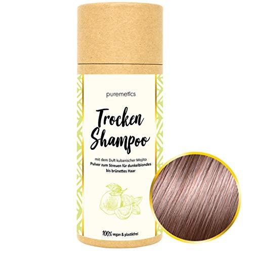 puremetics Zero Waste Trockenshampoo | für brünettes Haar | 100% vegan & plastikfrei | ohne Plastik (Mojito)