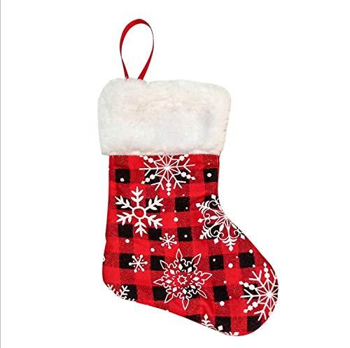 CYPYGDD De Nieuwe Kerst Decoratie Items Kerstmis Snoep Tassen Gift Tassen Trompet Sneeuwvlok Kerst kousen