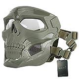WISEONUS Airsoft Táctico Skull Messenger Masks Equipo de protección...