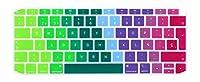 2018新しいFor Macbook Air 13 A1932 EUレイアウトキーボードカバーのFor Macbook Air 13.3シリコンスキンスペインガード用スペイン語キーボードプロテクター-Multi-