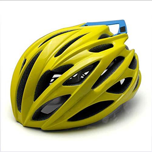 Casco Da Bicicletta, Certificato CE New Casco Bici Da Strada City Bike Sports Safety Casco Da Equitazione Leggero Portatile Casco Ciclismo Casco,Giallo