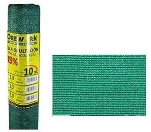 Malla ocultacion 95% verde 1,5x10 mt - Orework