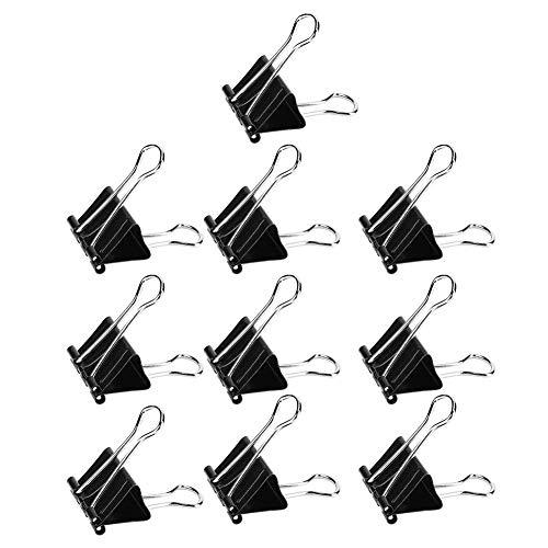 RiToEasysports Papierklammern, Binderclips Binderclips Binder Clamps Büroklammern Metallbüroklammern Metallklammern Papier Schwarz Papierklammern Büroklammerhalter Papierklammerhalter
