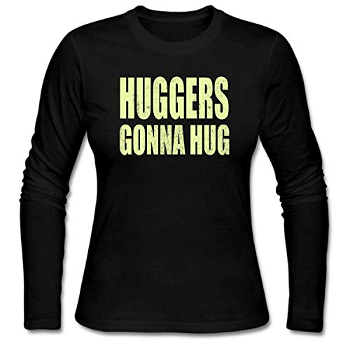 shshiqq Women's Huggers Gonna Hug Long Sleeve T-Shirt Black