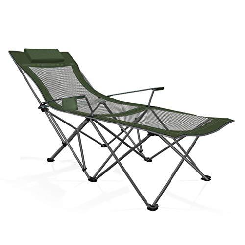 Hasayo Silla reclinable Cama Plegable Almuerzo Oficina Silla portátil Siesta Silla de Playa Pesca Silla Plegable al Aire Libre (Color : B)