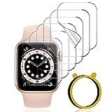 VASG [6 Stück] Schutzfolie Kompatibel mit Apple Watch Series 6/5/4/SE 40mm & Series 3/2/1 38mm Klar HD Flexible Soft TPU Folie Nicht Glas Blasenfreie Bildschirmschutz