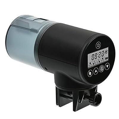 NICREW Fischfutterautomat für Aquarium oder Fisch Panzer, digitaler Zeitgeber für Fischfutterspender, 200 ml Kapazität (Batterie im Lieferumfang enthalten)