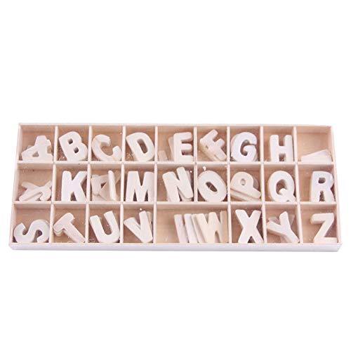 Sprießen 130 Piezas (5 letras cada una), Números de letras de Madera Natural en Mayúsculas Ideal para Manualidades Colgantes Decoración de Bricolaje Muestra la Decoración del hogar