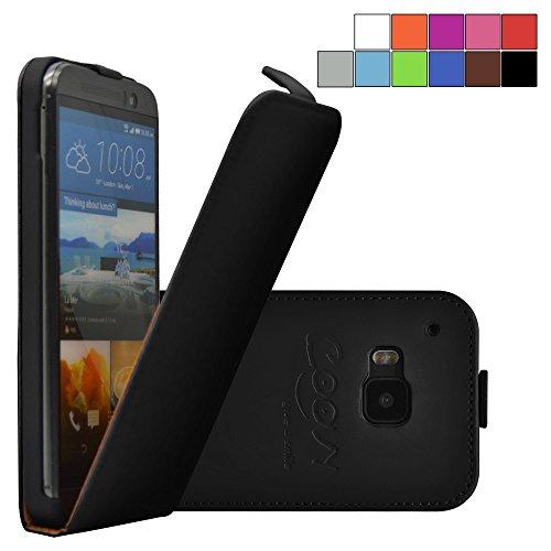 COOVY® Cover für HTC ONE M9 Slim Flip Case Tasche Etui inklusive gratis Displayschutzfolie | Farbe schwarz