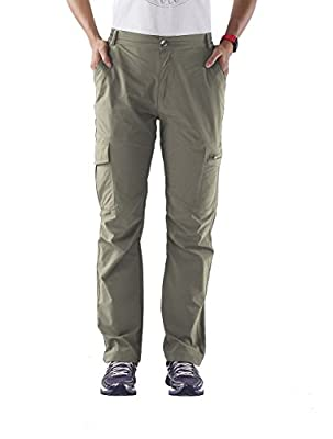 Nonwe Women's Outdoor Quick Dry Cargo Pants Khaki L/32 Inseam