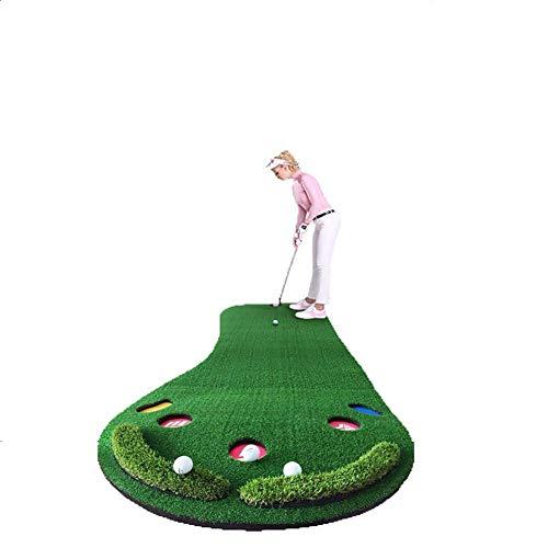 Golf Putting Green Trainer  Mat portátil (9.84ft x2.95 pies) para el hogar, Oficina, Interiores, al Aire Libre WTZ012