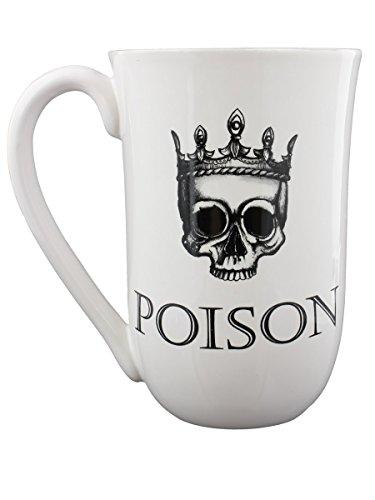 Nemesis Now Tasse Motif Poison Blanc 14 cm
