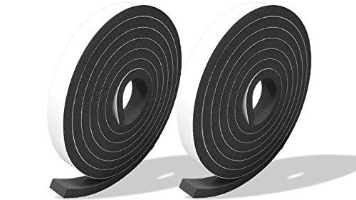 プランプ オリジナル 隙間テープ スキマッチ 黒 ブラック 厚 7 mm × 幅 15 mm × 長さ 2 m 2 本入 日本製 ゴムスポンジ 防水 防音 すきま 窓 玄関 引き戸 隙間