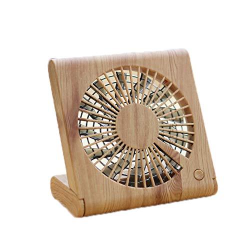 DGdolph Hand-Held Desk Fan Cooler Klimaanlage Ventilator aus Holz, Kirschbaumholz