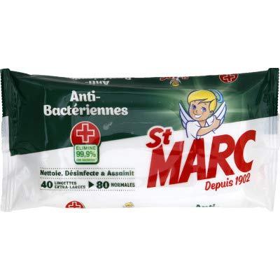 St Marc Lingettes antibactériennes - Les 40 lingettes