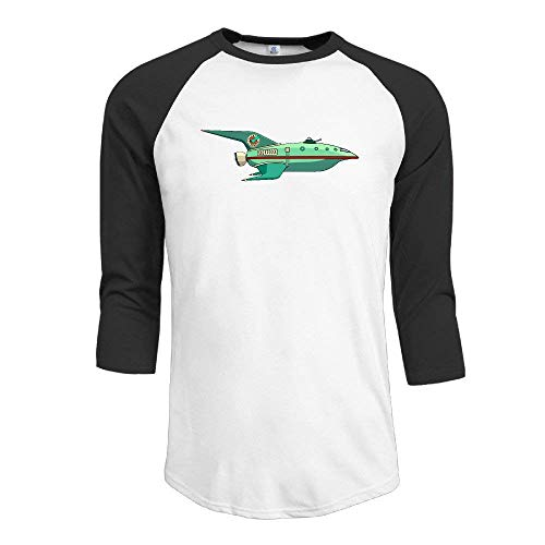 FHddg The Planet Express Ship Men's Crazy Tops 3/4 Sleeve tee Shirt