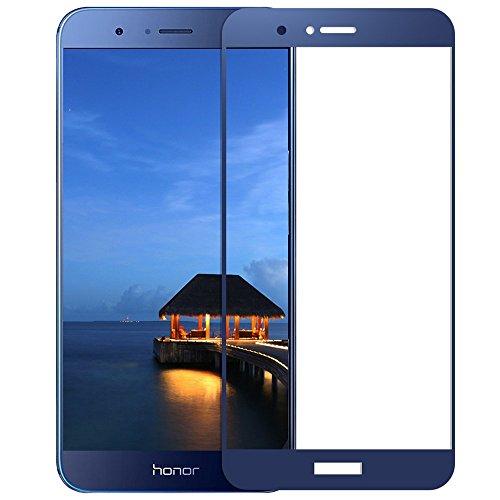 EUGO [2-Pack] Huawei Honor V9/Honor 8 Pro Pellicola Protettiva 3D Full Coverage Vetro Temperato 9H Premio di Protezione Huawei Honor V9/Honor 8 Pro Pellicola Schermo - Blu