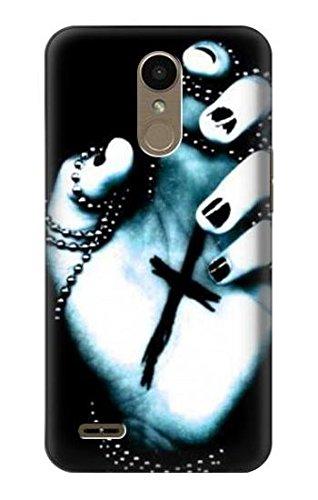 Innovedesire Dark Gothic Cross Hand Hülle Schutzhülle Taschen für LG K10 (2018), LG K30, LG K11