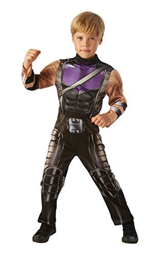 Rubies 3630505S Hawkeye Avengers Assemble Deluxe - Costume da bambino, colore nero