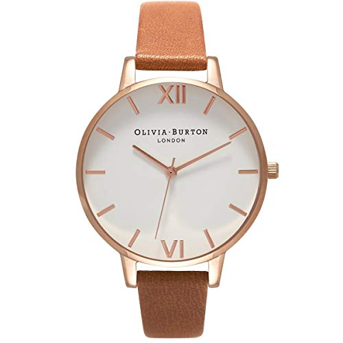 Olivia Burton Damen Analog Quarz Armbanduhr mit Lederarmband OB16BDW19